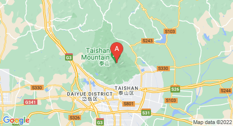 map of Mount Tai (China)